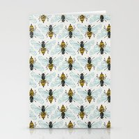 bee Stationery Cards featuring Honey Bee by Cat Coquillette