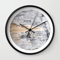 Planetary Bodies - Birch Wall Clock
