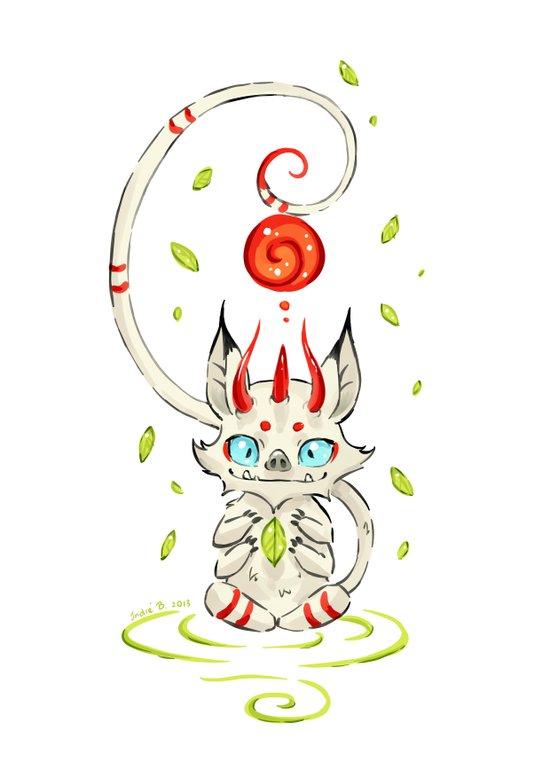 Little Monster 2 Art Print
