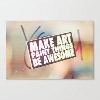 Hello Art Canvas Print