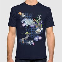 Japanese Garden Mens Fitted Tee Navy SMALL