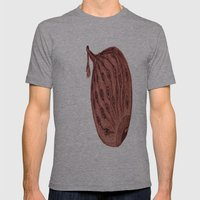 Peacock Eye Mens Fitted Tee Athletic Grey SMALL