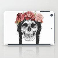 Skull with floral crown iPad Case