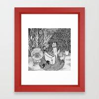 Fox Piano Framed Art Print