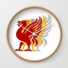 Liverpool FC and city emblem the Liver Bird  Wall Clock