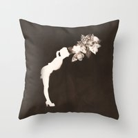 Negative Kiss Throw Pillow