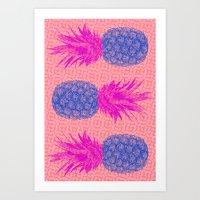 Pineapple Bits Art Print