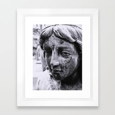 Angelic face Framed Art Print