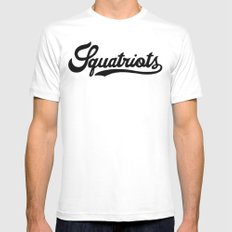 Squatriots White SMALL Mens Fitted Tee