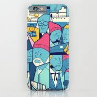 iPhone Cases featuring The Life Acquatic with Steve Zissou by Ale Giorgini