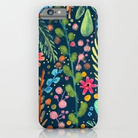 les prairies (navy) iPhone 6 Slim Case