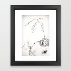 Fish and Avocado Framed Art Print