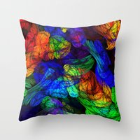The Magic Of Color Throw Pillow