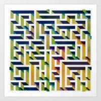 Maze Art Print