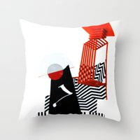 collage love :Monk Throw Pillow