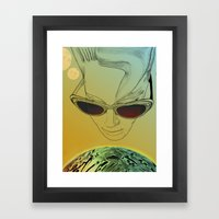 Wanda ,Kisses from Planet UZU !- Day version Framed Art Print