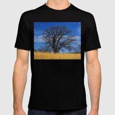 Prairie savanna oak Mens Fitted Tee Black SMALL