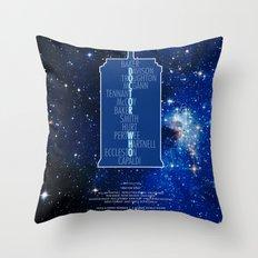 Doctor Who - Thirteen Doctors Throw Pillow