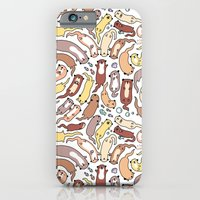 iPhone Cases featuring Adorable Otter Swirl by KiraKiraDoodles