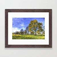 Summer Farm Trees Art Framed Art Print