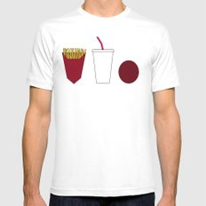 Aqua teen hunger force minimalist  Mens Fitted Tee White SMALL