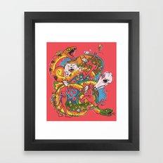 Holiday Imp Framed Art Print