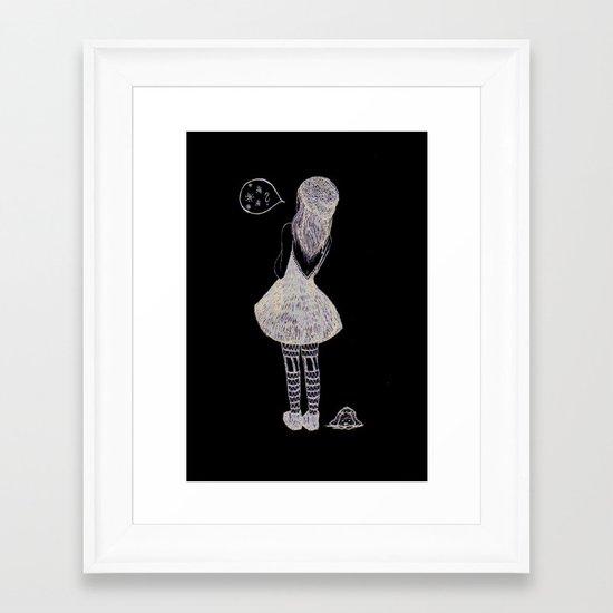 Snow? Framed Art Print