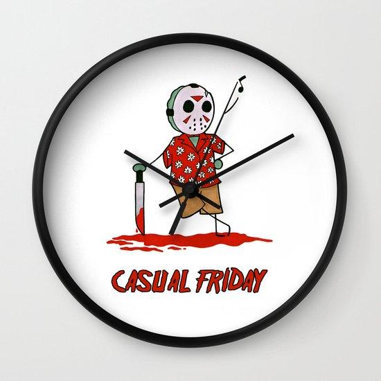 Casual Friday Wall Clock