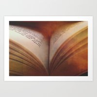 Between The Pages Of A B… Art Print