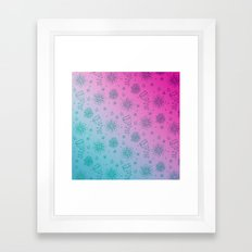 Summer Flower pattern Framed Art Print