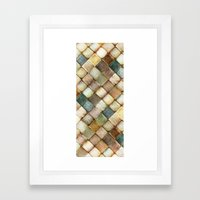 diamond path Framed Art Print