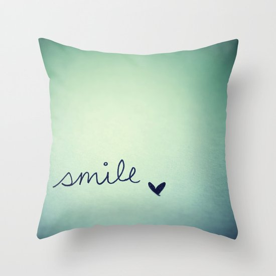 s  m  i  l  e  Throw Pillow