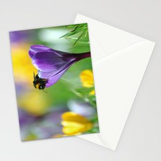 Bumble Bee on Crocus Stationery Cards