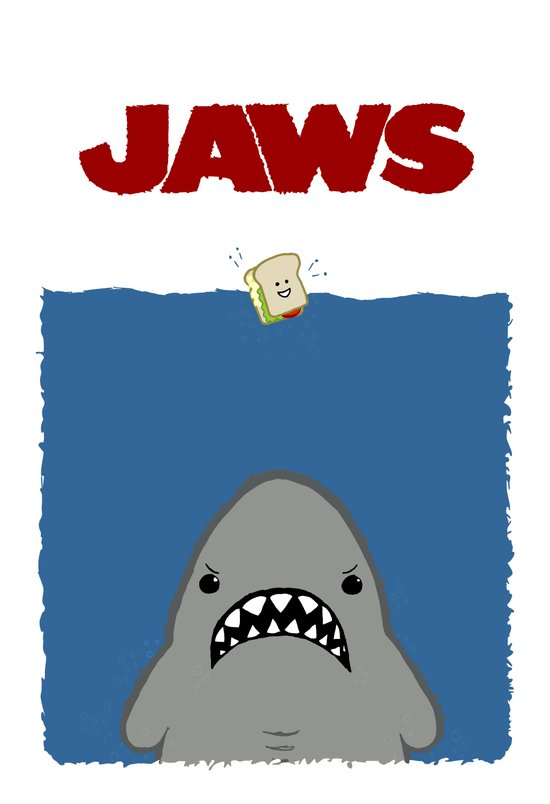 JAWS Movie Poster Art Print