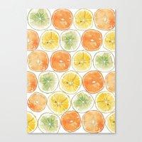 Orange Print Canvas Print