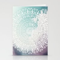 RAINBOW CHIC MANDALA Stationery Cards