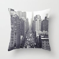 flying over first... Throw Pillow