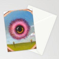 Fuzzy Pink Eyeball Stationery Cards