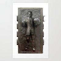 Dick Clark in Carbonite Art Print