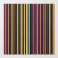 Dazzling Midnight [Lines… Canvas Print