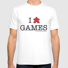 I Meeple Games Mens Fitted Tee White SMALL