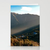 Morning breaking in Ghorepani Stationery Cards