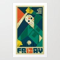 Friday 13 Art Print