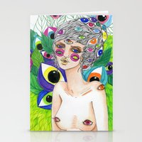 She Sees In All Directions Stationery Cards