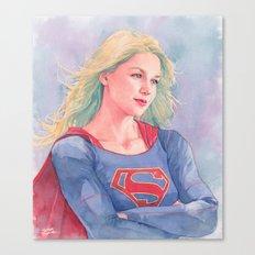 Supergirl watercoor Canvas Print
