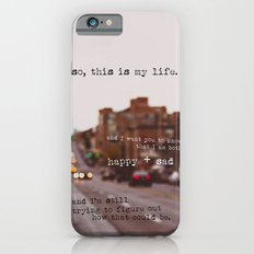 perks of being a wallflower - happy + sad iPhone 6 Slim Case
