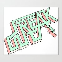 FREAK OUT [MORE] Canvas Print