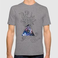 Space Snakes Mens Fitted Tee Tri-Grey SMALL