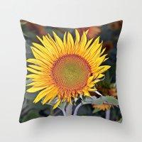 Floating SUN Throw Pillow