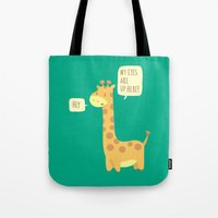 Giraffe Problems! Tote Bag